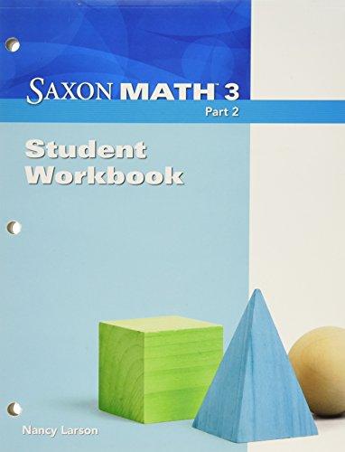 9781600325809: Saxon Math 3, Part 2: Student Workbook