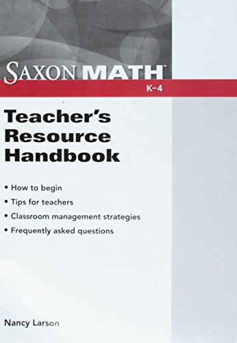 Saxon Math Teachers Resource Handbook