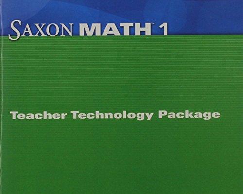 Saxon Math: Teacher Technology Package, No. 1: SAXON PUBLISHERS