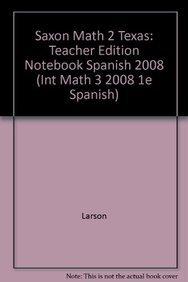 Saxon Math, Part 2, 3rd Edition (Spanish Edition) (1600328776) by Nancy Larson