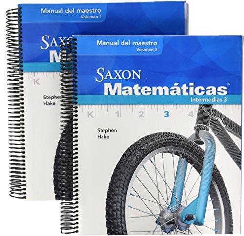 9781600328978: Saxon Math Intermediate 3 Spanish: Teacher Manual 2-Volume Set 2008 (Spanish Edition)