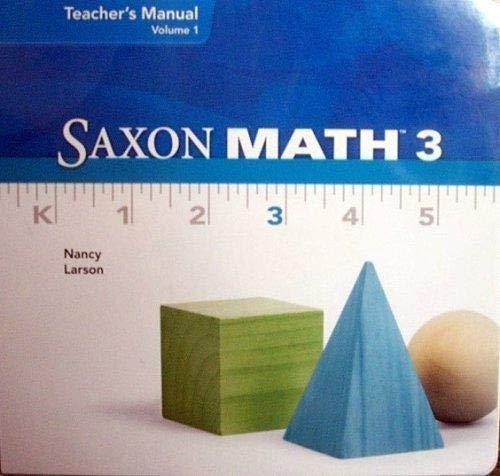 9781600329142: Saxon Math 3, Teacher's Manual, Vol. 2