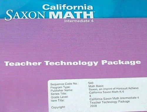 9781600329340: Saxon Math Intermediate 4 California: Technology Pack
