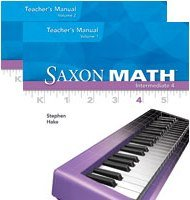 9781600329401: Saxon Math: Intermediate 4 - Teacher's Manual (2 Volume Set)