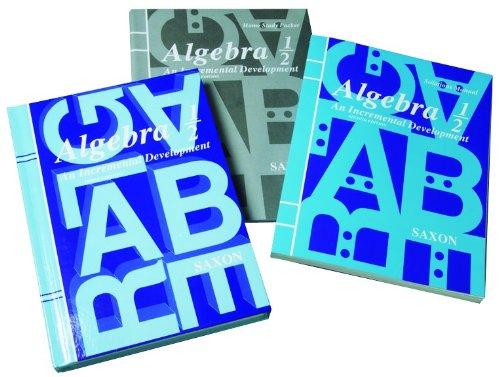 9781600329708: Algebra 1/2 Homeschool Kit: An Incremental Development