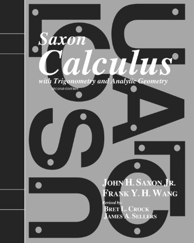 9781600329746: Saxon Calculus: Homeschool Kit w/Solutions Manual Second Edition