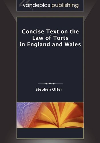 9781600421228: Concise Text on the Law of Torts in England and Wales