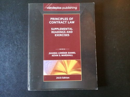 9781600421235: Principles of Contract Law Supplemental Readings and Exercises
