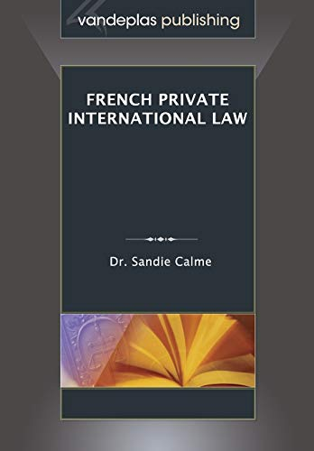 9781600422539: French Private International Law
