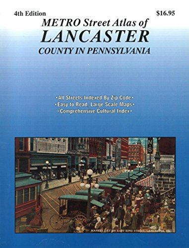9781600480522: Metro Street Atlas of Lancaster County In Pennsylvania