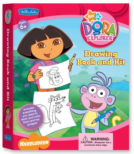 9781600581175: Dora the Explorer Drawing Book & Kit: Includes Everything You Need to Draw and Color Dora and Her Amigos! (Nick Jr. Drawing Book & Kits)