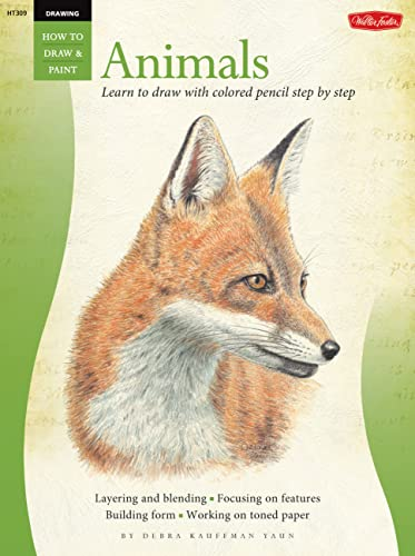 9781600581373: Drawing: Animals in Colored Pencil: Learn to Draw with Colored Pencil Step by Step (How to Draw & Paint)