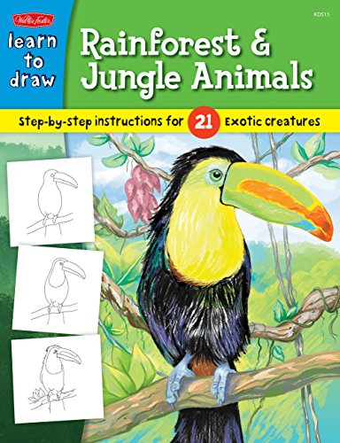 how to draw jungle animals step by step