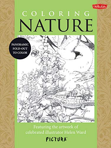 9781600584015: Coloring Nature: Featuring the artwork of celebrated illustrator Helen Ward (PicturaTM)