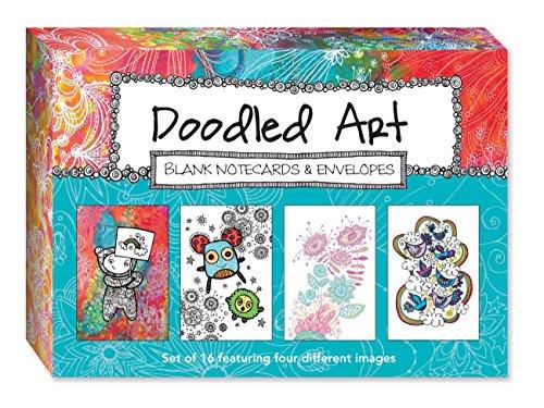 9781600584251: Doodled Art Blank Notecards & Envelopes
