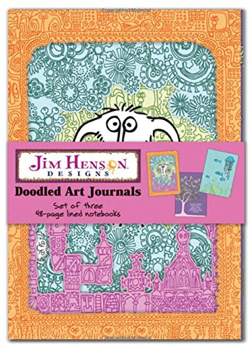 9781600584626: Jim Henson Designs Doodled Art Journals: Set of Three 48-page Lined Notebooks