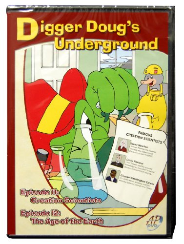 9781600630309: Digger Doug's Underground DVD Episode 11&12, Creation Scientists& The Age of the Earth-Creationism vs. Evolution Answers-Intelligent Design-Mystery-Evolution-Archaeology-Creation-God-Science-Kids Song-Songs for Kids-Science Kids DVD
