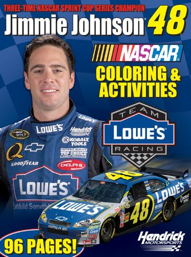 9781600721526: Jimmie Johnson (Nascar Drivers Coloring Book)