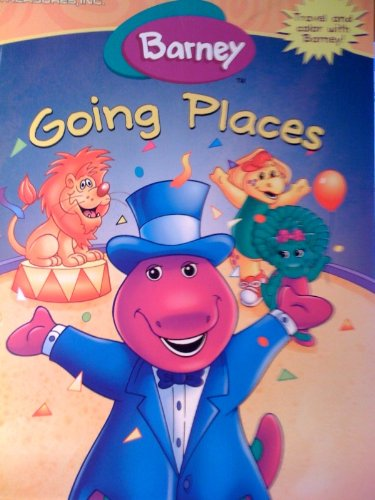 Barney Going Places Travel and Color with Barney!