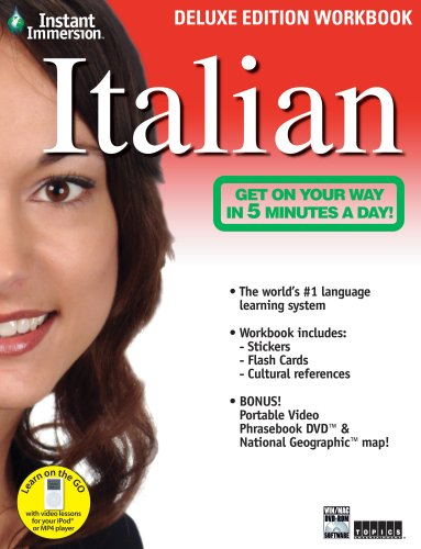 9781600774010: Instant Immersion Italian - Deluxe Edition Workbook (Italian and English Edition)