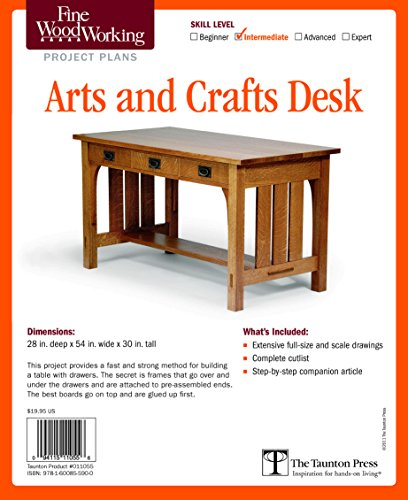Fine Woodworking's Arts and Crafts Desk Plan: Editors of Fine Woodworking