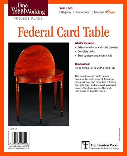 Fine Woodworking's Federal Card Table Plan: Editors of Fine Woodworking