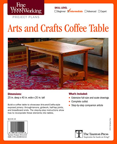 9781600856150: Fine Woodworking's Arts and Crafts Coffee Table Plan