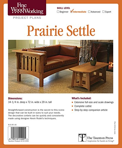 9781600856242: Fine Woodworking's Prairie Settle Plan (Skill Level Intermediate)