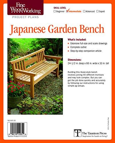 9781600856266: Fine Woodworking's Japanese Garden Bench Plan (Fine Woodworking Project Plans)