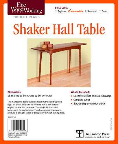 9781600859700: Fine Woodworking's Shaker Hall Table Plan (Fine Woodworking Project Plans)