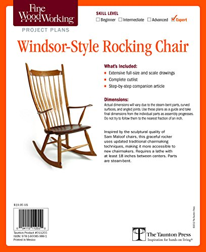9781600859861: Fine Woodworking's Windsor-Style Rocking Chair Plan
