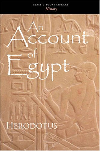 9781600965609: An Account of Egypt