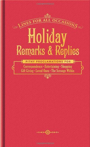 9781601060600: Holiday Remarks and Replies for All Occasions (Lines for All Occasions)