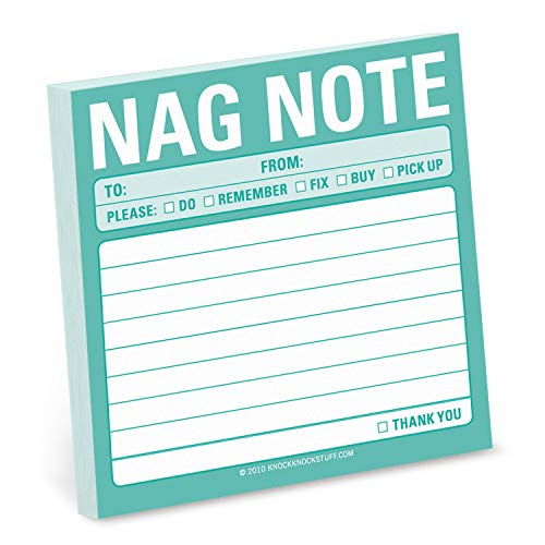Knock Knock Nag Note Sticky Notes (Simple Stickies)
