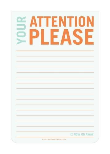 Attention Please: Jumbo Sticky: Knock Knock