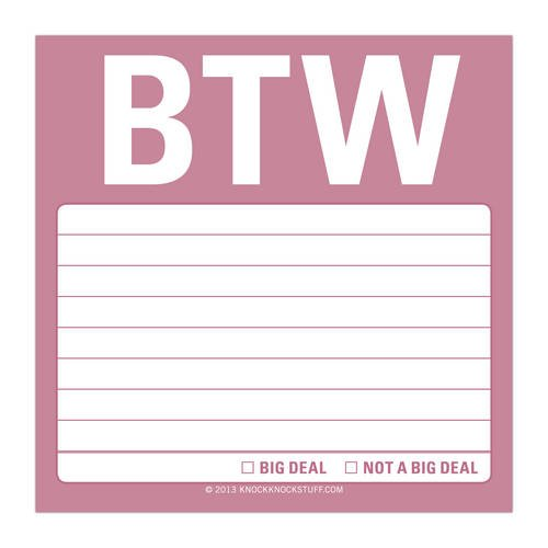 9781601065063: Btw: Sticky Note (Simple Stickies)