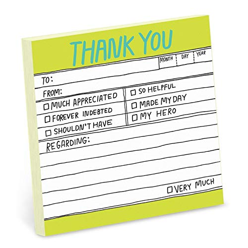 9781601065087: Knock Knock Hand-Lettered Thank You Sticky Notes