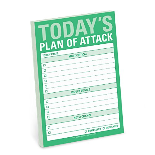 9781601067753: Knock Knock Plan of Attack Great Big Sticky Note, Daily to-Do List Sticky Pad, 4 x 6-inches (Stationery)