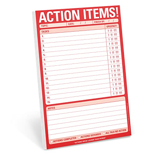 9781601068781: Knock Knock Action Items! Pad, To Do List Note Pad, 6 x 9-inches