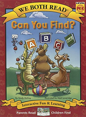 9781601152800: Can You Find? (We Both Read - Level Pk-K): An ABC Book