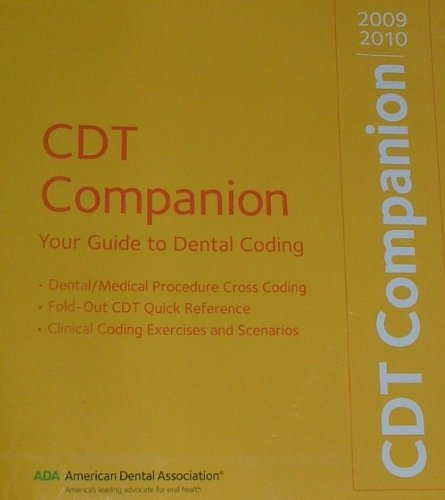 9781601220448: CDT Companion 2009-2010: Your Guide to Dental Coding