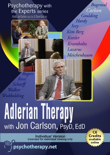 9781601241368: Psychotherapy with the Experts: Adlerian Therapy with Jon Carlson, PsyD, EdD
