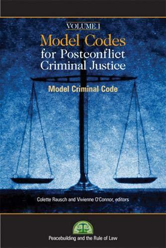 9781601270115: Model Codes for Post-conflict Criminal Justice