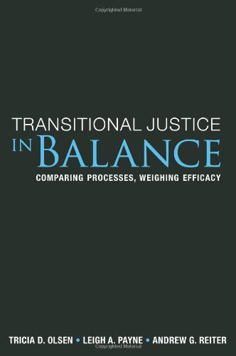 9781601270535: Transitional Justice In Balance: Comparing Processes, Weighing Efficacy