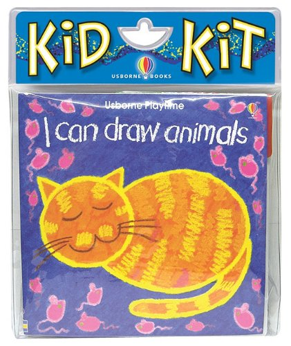 9781601300188: I Can Draw Animals Kid Kit [With Chalk] (Kid Kits)
