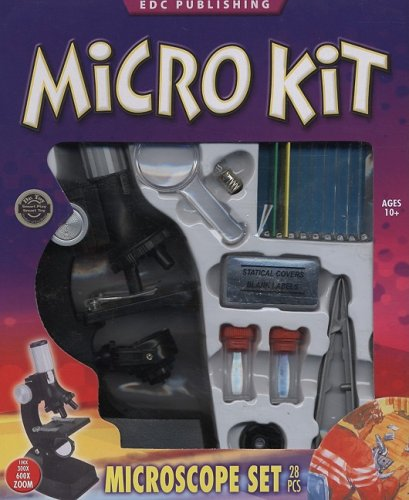 9781601301086: Micro Kit Microscope Set [With 48-Page Book and Slides, Collecting Viles, Stirring Rod, Etc.] (Kid Kits)