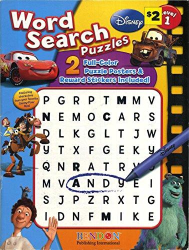 9781601395955: Disney Pixar Word Search Puzzles Level One