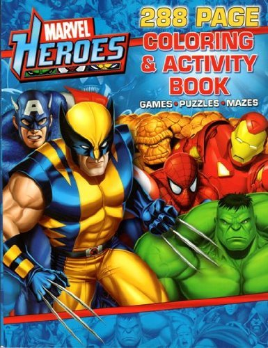 9781601398994: Marvel Heroes 288 Page Coloring and Activity Book by Unknown (2010-08-02)