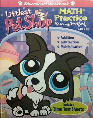 Littlest Pet Shop Math Practice Learning Workbook