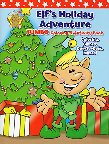 9781601399427: Elf's Holiday Adventure Jumbo Coloring & Activity Book